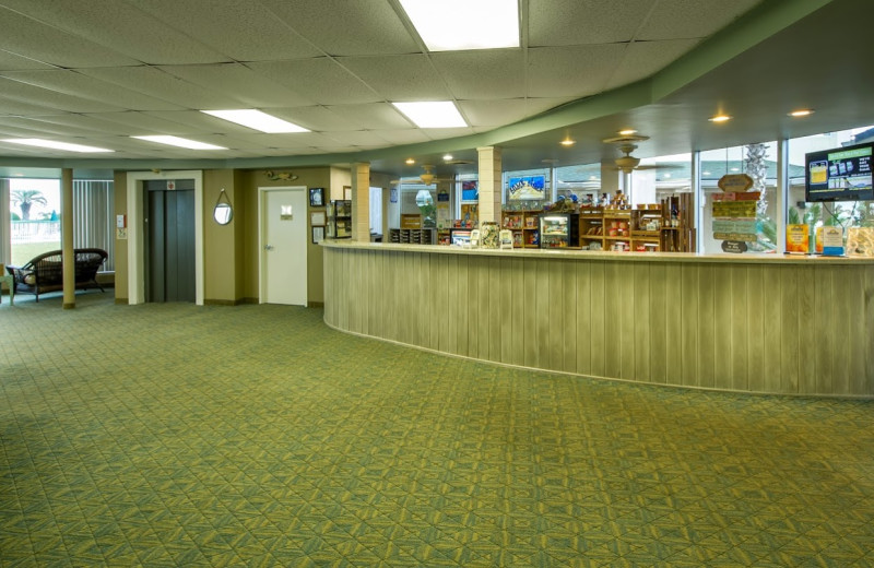 Lobby at Days Inn & Suites Jekyll Island.