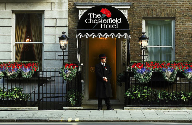 Exterior view of The Chesterfield Mayfair Hotel.