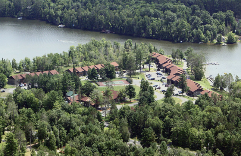 Aerial view of Wild Eagle Lodge.