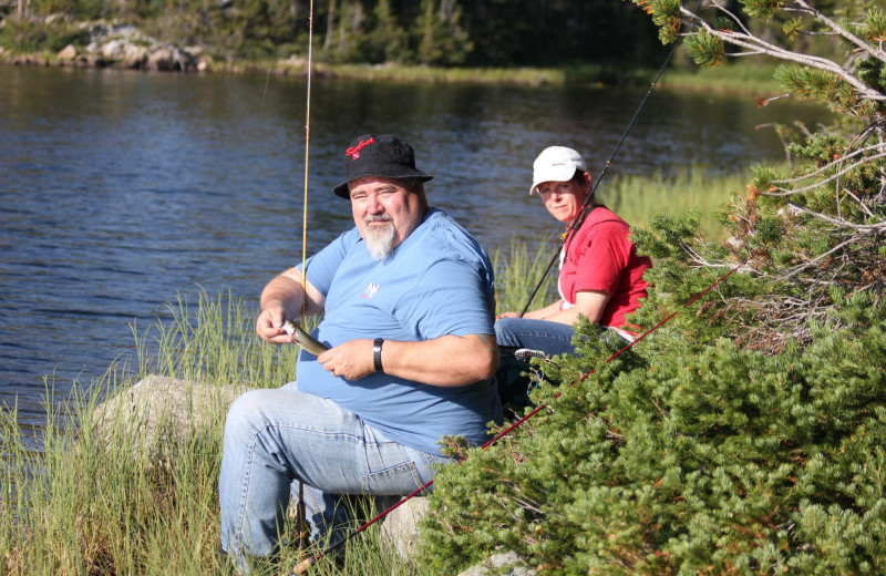 Fishing at Kendall Valley Lodge.