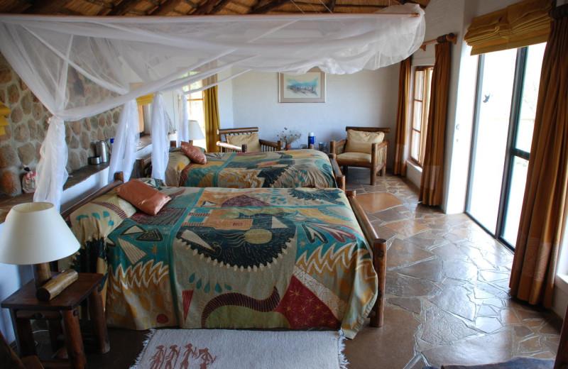 Guest room at Huab Lodge.