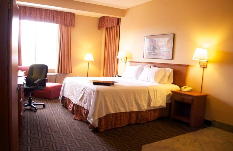 Guest room at Hampton Inn & Suites Flagstaff.