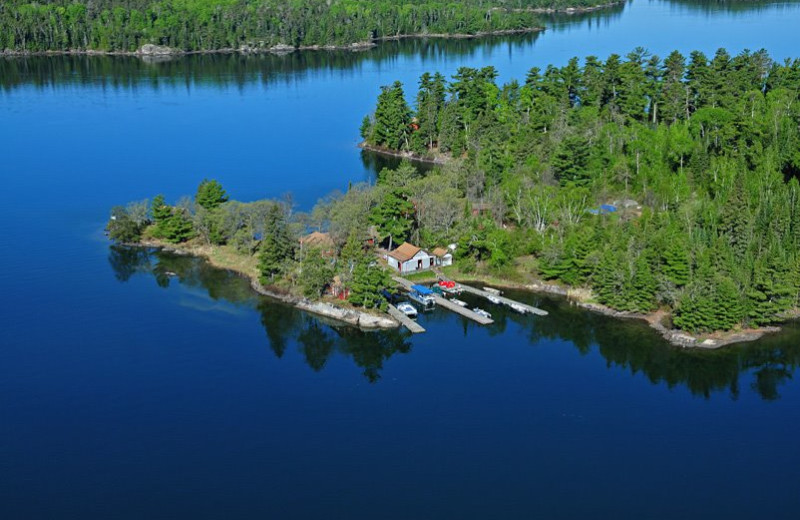 Aerial view of Whitefish Bay Camp.