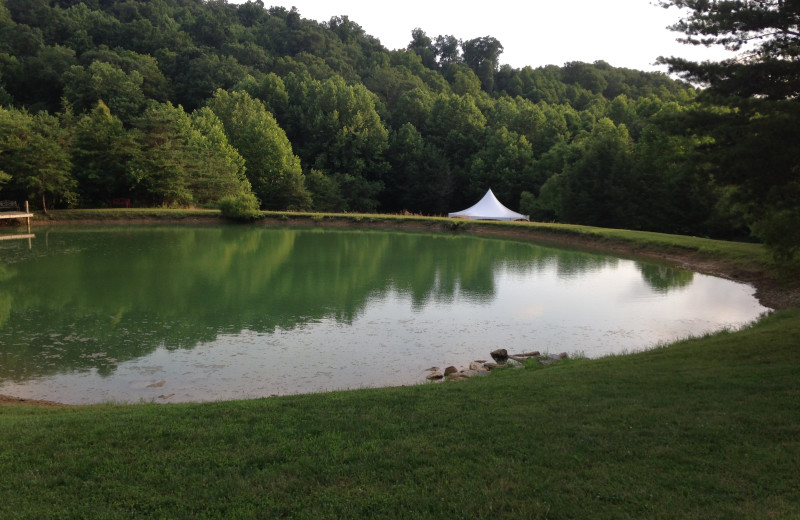 The pond competes for best view on your wedding day
