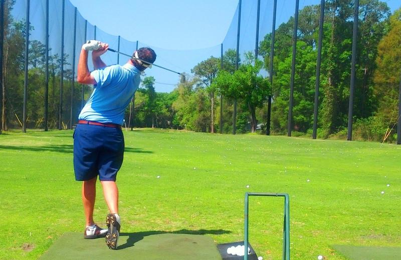 Drive practice at Sea Palms Resort.