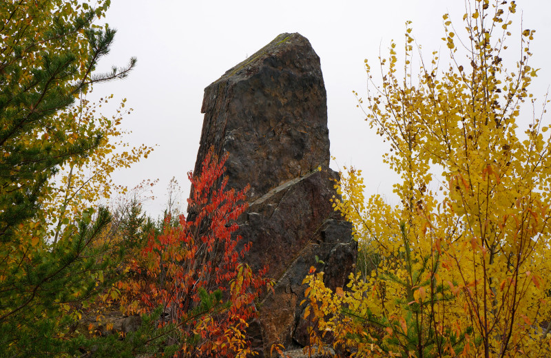 Hike to Magnetic Rock, this trail is about 30 minutes from Skyport Lodge, up the Gunflint Trail