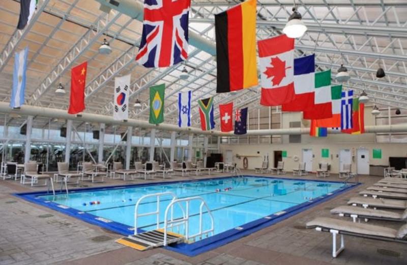 Indoor pool at Chicago's Essex Inn.