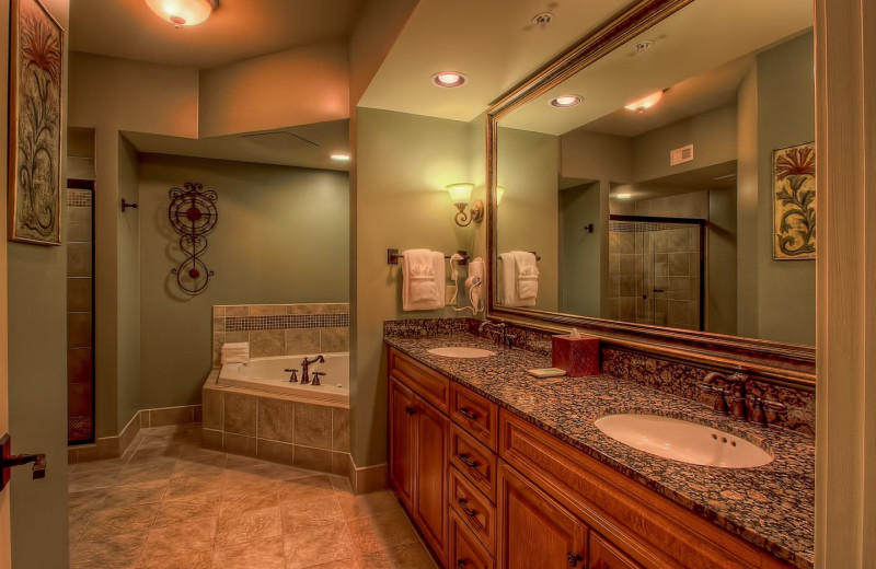 Guest bathroom at RiverStone Resort & Spa.