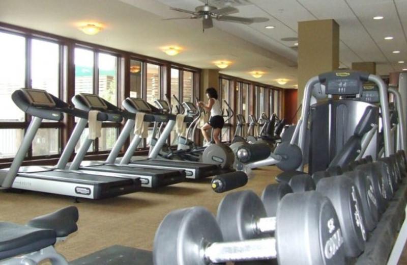 Fitness center at Grand Lodge on Peak 7.