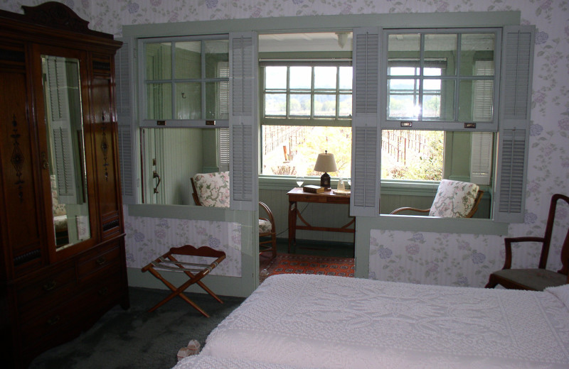 Guest room at Larkmead Country Inn.