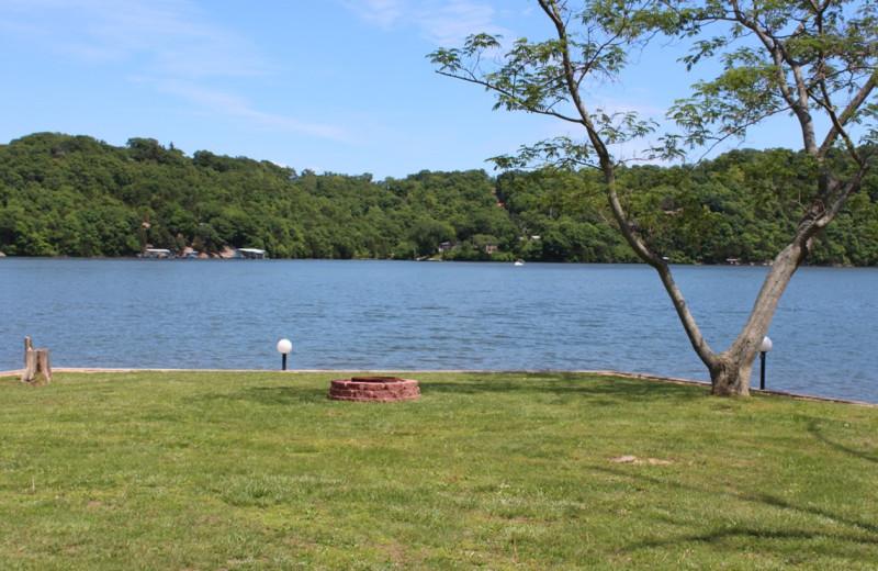 Lake view at Hawks Landing Resort.