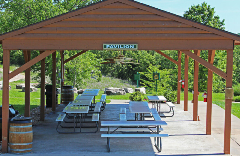 Picnic area at Westgate Branson Woods Resort.
