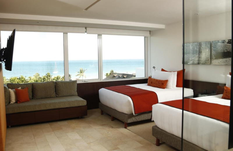 Guest room at InterContinental Presidente Cancun Resort.