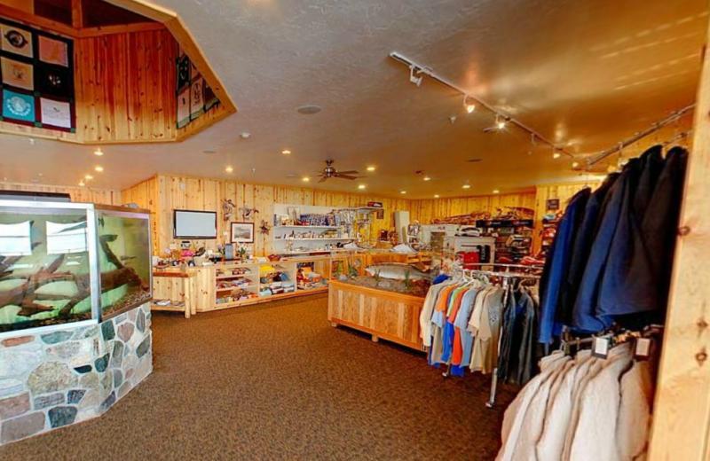 Gift shop at Hiawatha Beach Resort.