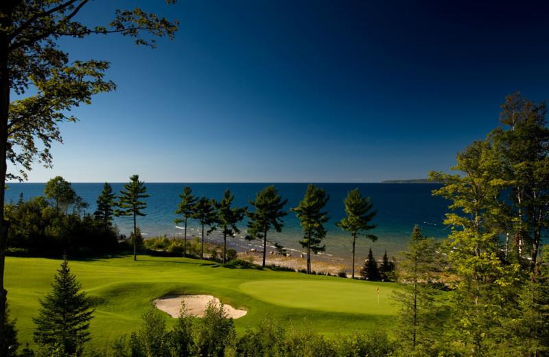 Golf course near Bay Harbor Resort and Marina.