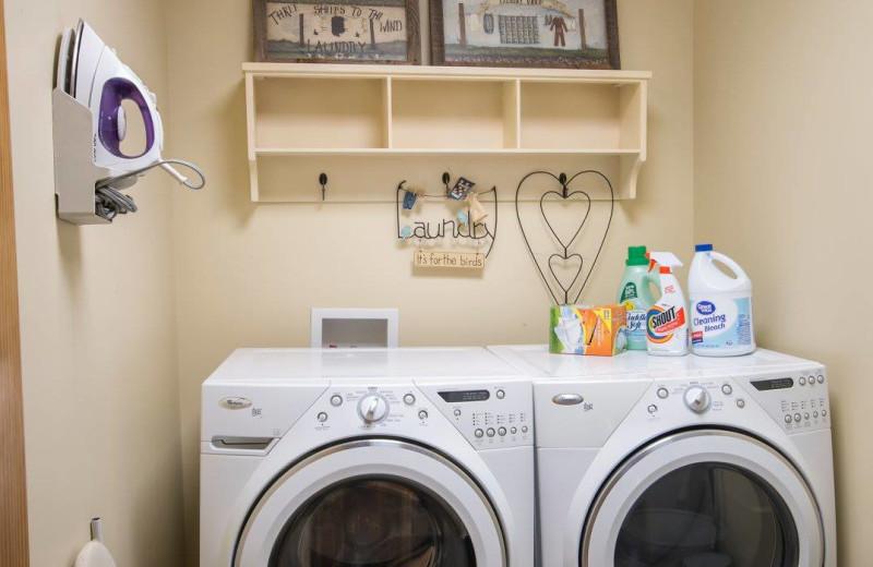 Laundry facilities at The Lodge at Lane's End.