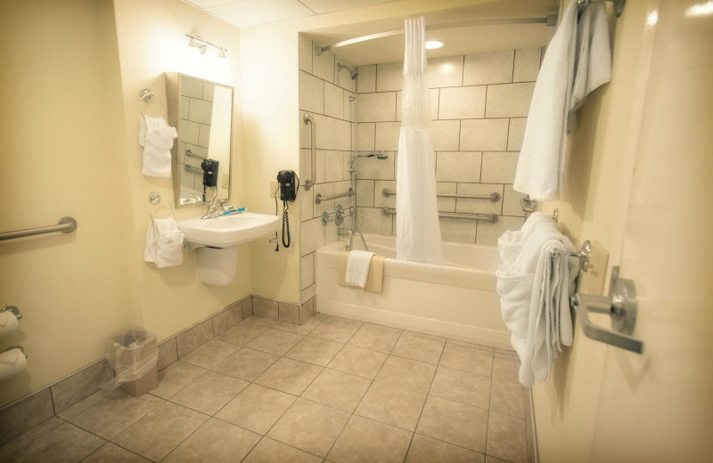 Accessible bathrooms at The Oceanfront Inn.