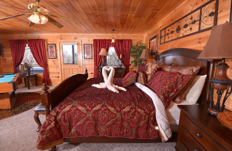 Romantic cabins at Fireside Chalets & Cabin Rentals.