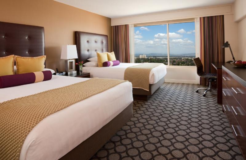 Guest room at Hyatt Regency Orange County.