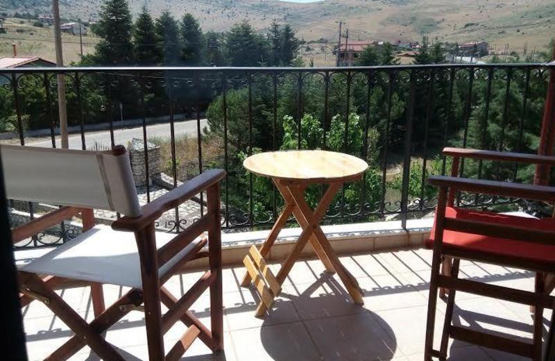 Balcony view at Arachova Houses.