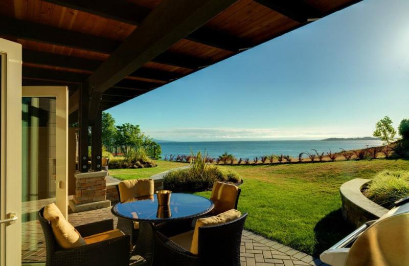 Patio view at Sunrise Ridge Waterfront Resort.