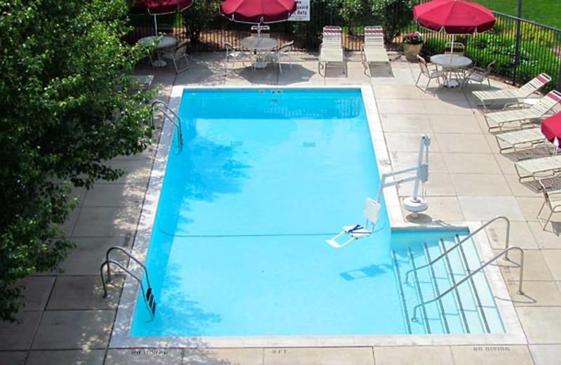 Outdoor pool at Residence Inn Detroit Livonia.