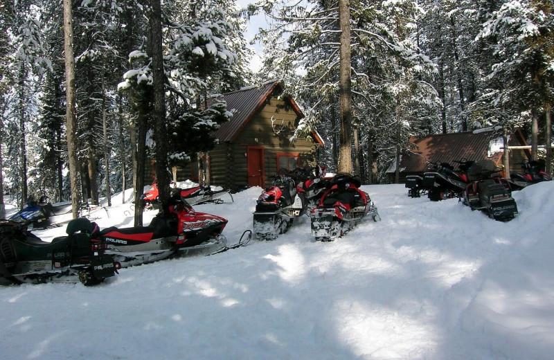 Snowmobiling at North Shore Lodge & Resort.