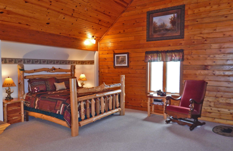 Guest room at Buffalo River Lodge.