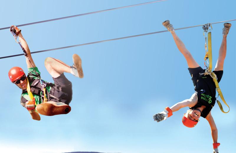 Zip line near Playa Del Sol Resort.