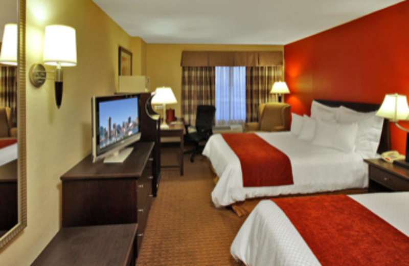 The queen guest rooms are ideal for families traveling together at Best Western Baltimore.