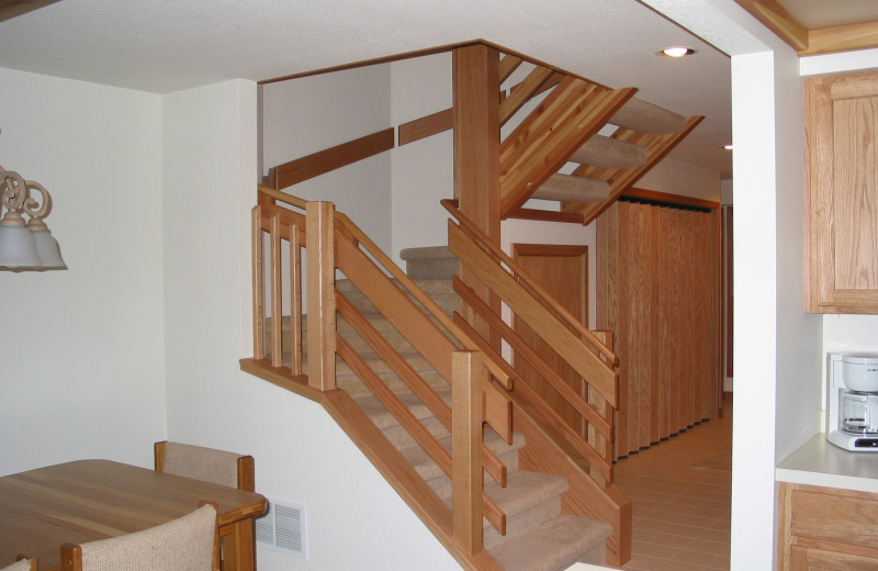 Rental stairs at Hamlet Village Resort Condominiums.