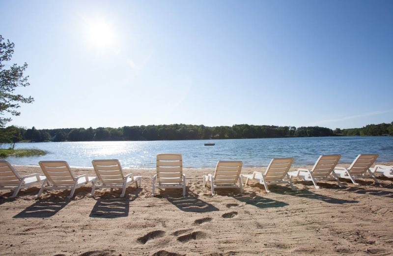 The beach at Sojourn Lakeside Resort.