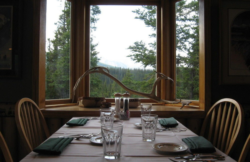 Dining at Denali Perch Resort.