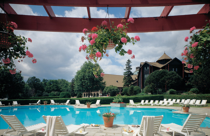Outdoor pool at Fairmont Le Chateau Montebello.