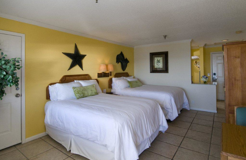 Guest room at Ocean Isle Inn.