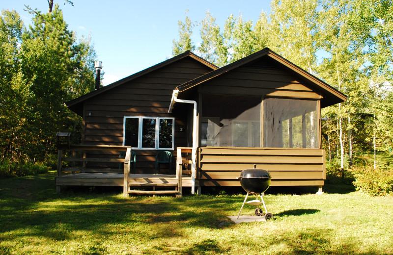 Lodge front at Golden Eagle Lodge.