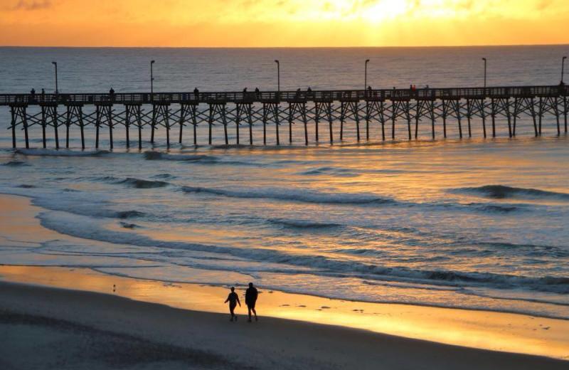 Walk along the beach at Treasure Realty.