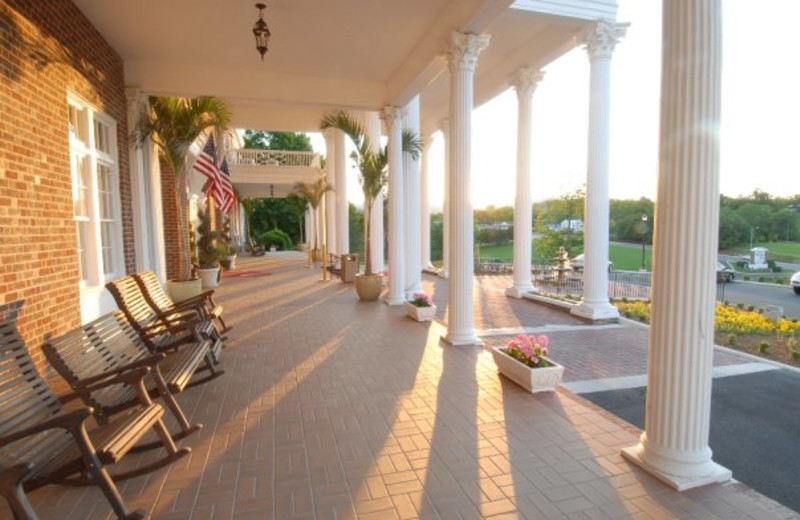 Porch Seating at The Mimslyn Inn