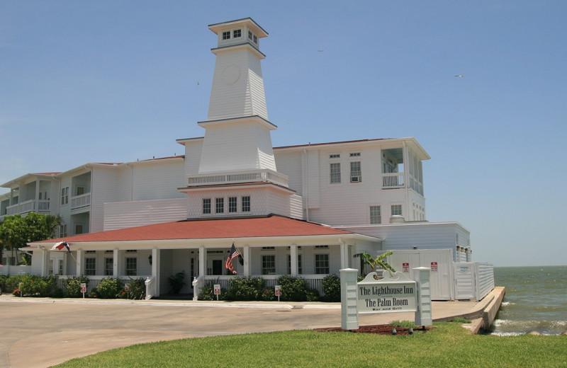 Exterior view of The Lighthouse Inn at Aransas Bay.