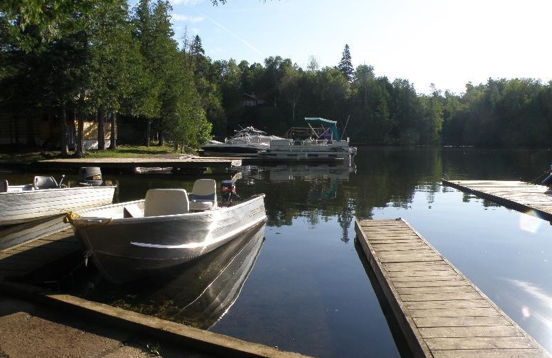 Docks at Fernleigh Lodge.