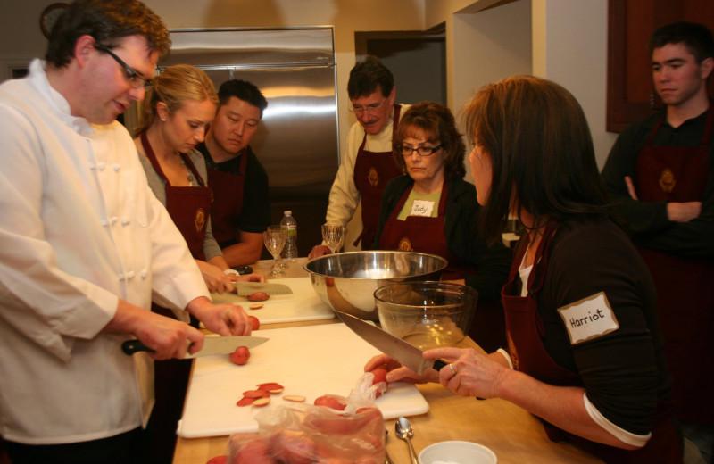 Cooking classes at Cedar Gables Inn.