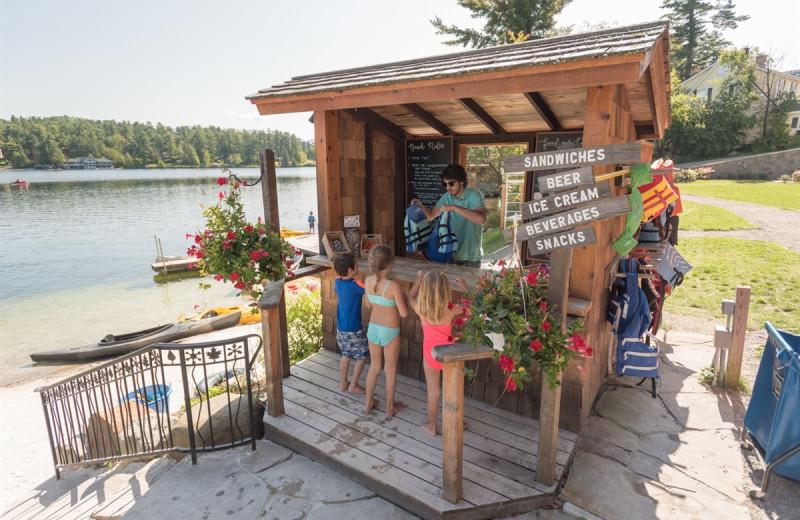 Bar at Golden Arrow Lakeside Resort.
