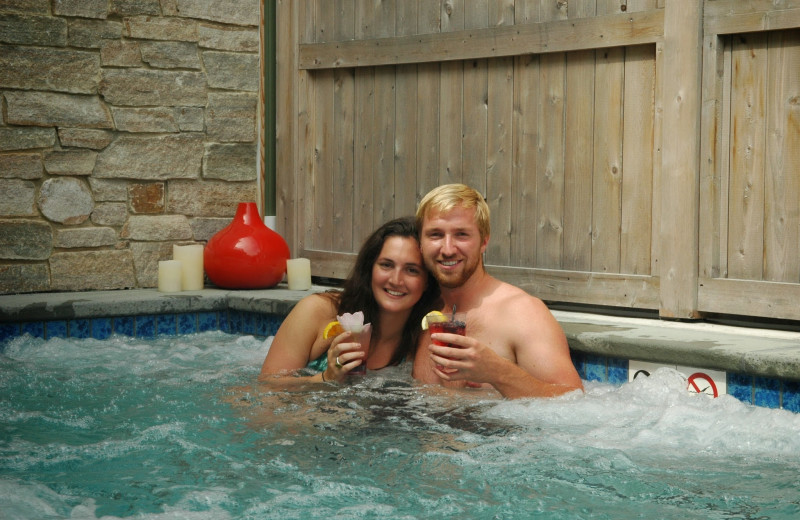Couple in hot tub at The Nantucket Hotel and Resort.
