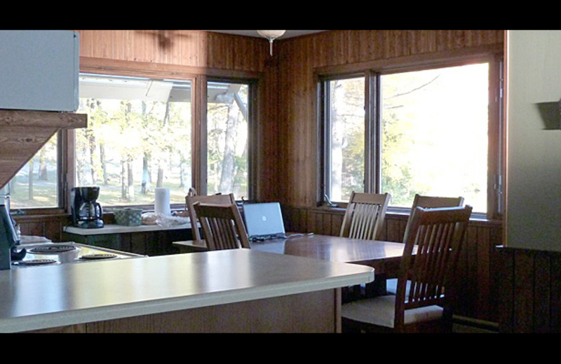 Cabin interior at Northernaire Resort.
