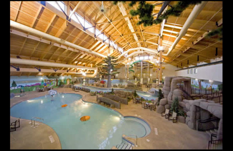 Indoor water park at Three Bears Lodge.