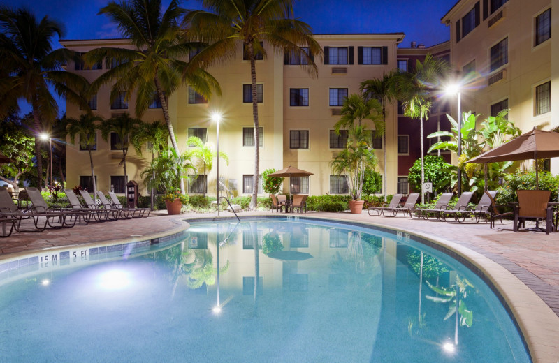 Outdoor pool at Staybridge Suites Naples-Gulf Coast.