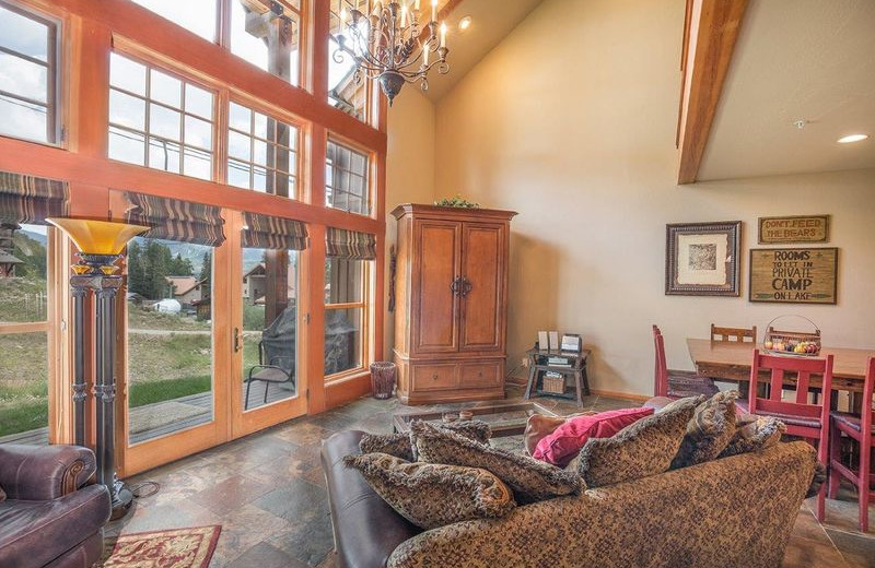 Rental living room at Durango Colorado Vacations, LLC.