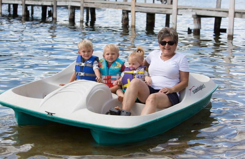 Paddle boat at Naswa Resort.