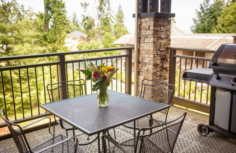 Guest balcony at Sunrise Ridge Waterfront Resort.
