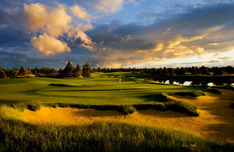 Fazio greens view at Pronghorn Resort.